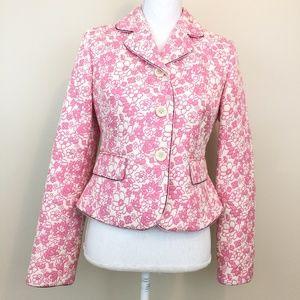 Beautiful LOFT pink floral blazer.